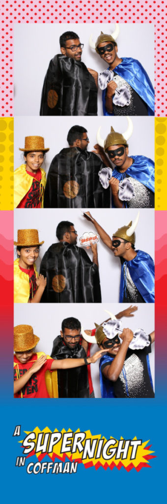 Super Hero theme photobooth, University of Minnesota