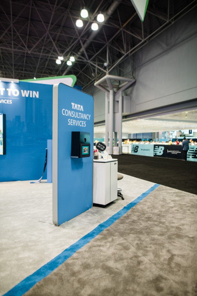 blue expo booth