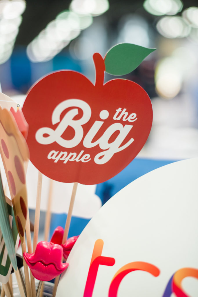 photo booth props, apple shaped prop with text