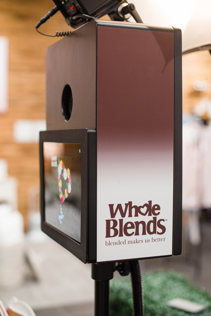 photo booth kiosk with a logo