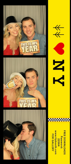 A photo strip from a photo booth
