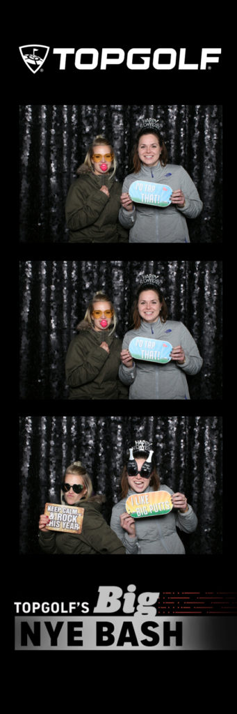 Photo strip with two people posing for a photo