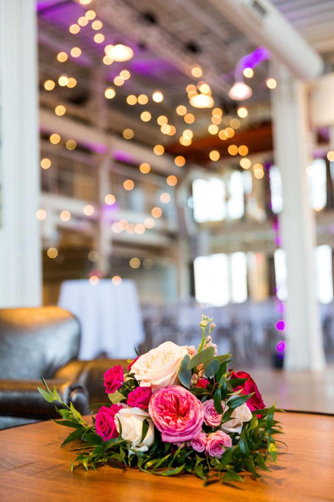 Flower arrangment on a table