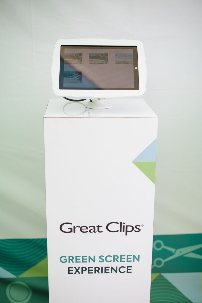 A kiosk with a tablet