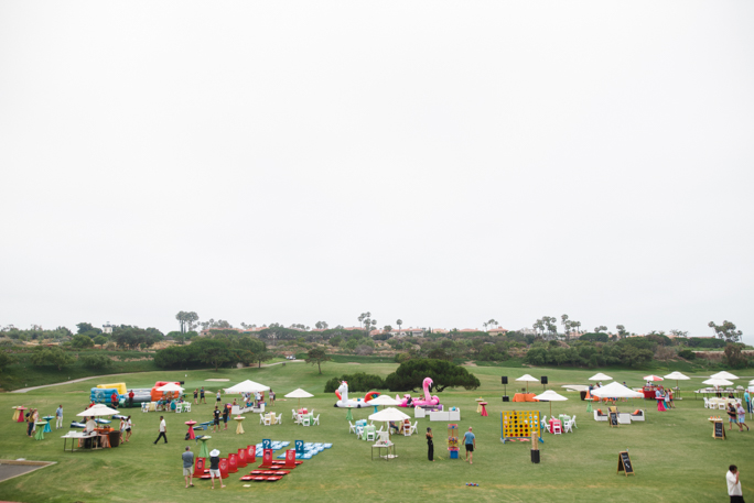 A shot of a lawn party