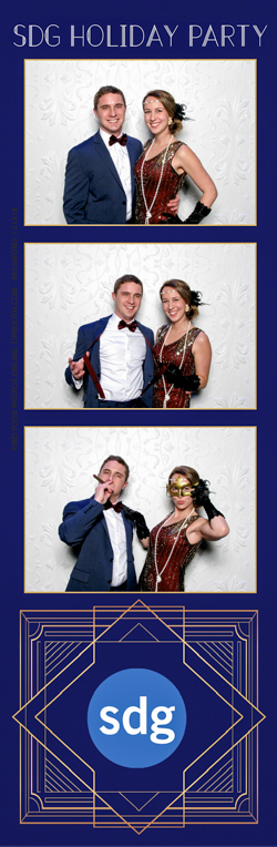 A photo strip of a couple posing for a photo