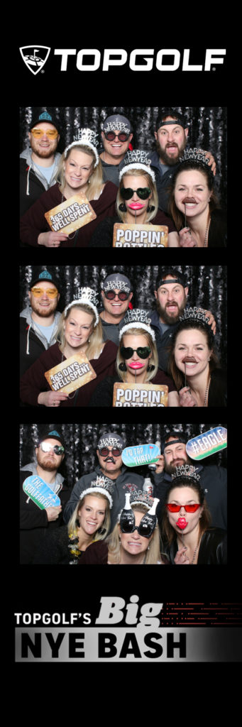 black photo booth backdrop from topgolf minnesota