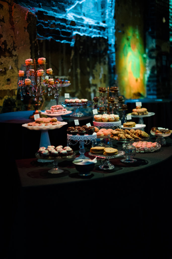 A table with dessert display