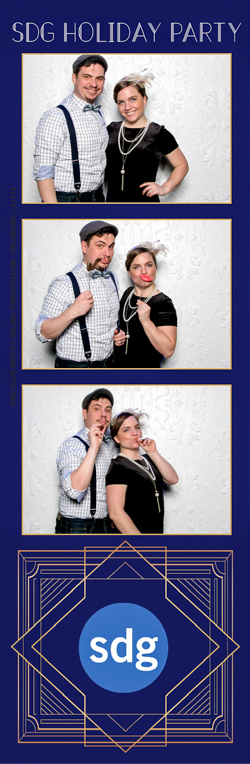 A dressed up couple posing for a photo